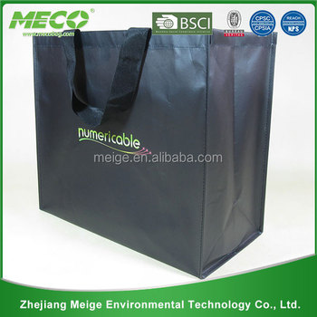 Black non woven fabric bag