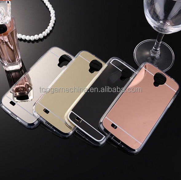 Plating Mirror Phone Case Cover for Samsung Galaxy S4 I9500 TPU Case