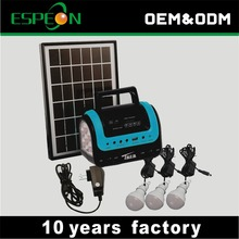 china suppliers new products 5W solar panel 4ah battery portable small solar home light system