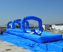 lane giant inflatable water slide for adult,tropical inflatable big water slide with pool slip n slide F4123