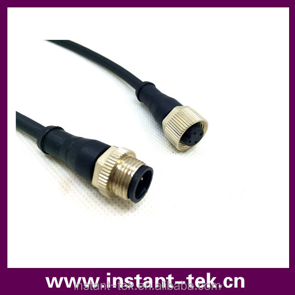 INST waterproof m12 cable 3 pin 4 pin connectors