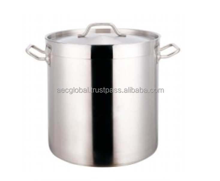 Tall Body Stainless Steel Pot With Compound Bottom(04 Style)