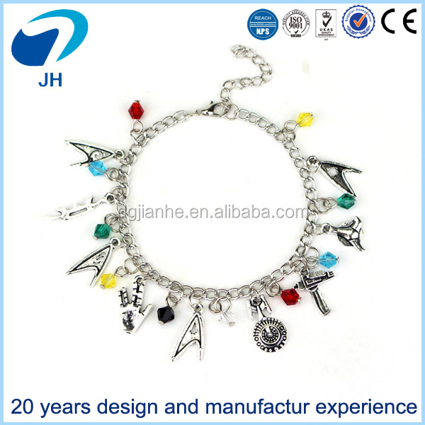 wholesale Sta Wars bracelet Star Trek bracelet multicolored pearl bracelet