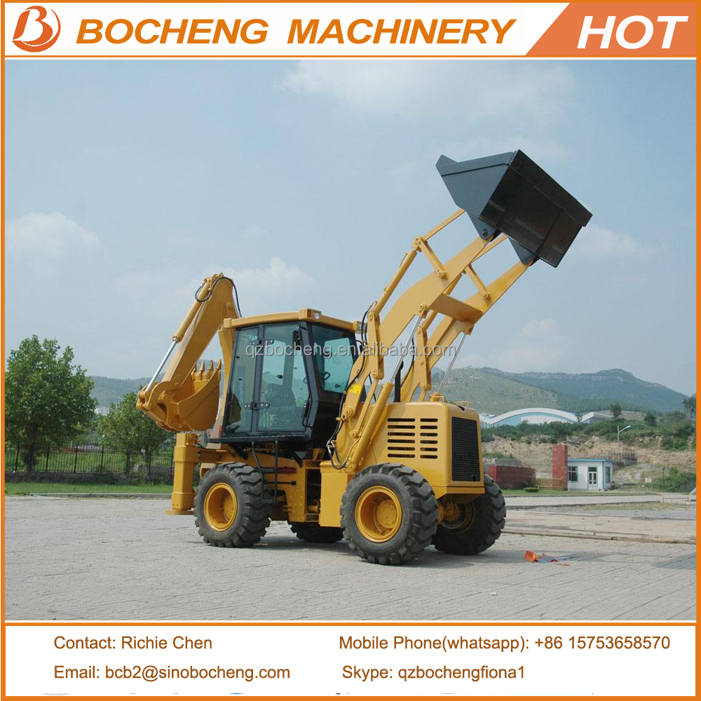 Mini Backhoe Loader WZ30-25 Wheel Excavator with Bucket