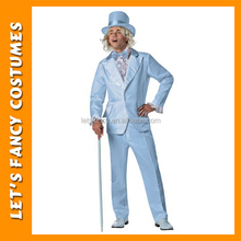 PGMC1318 Dumb And Dumber Plus Size Harry Blue Tuxedo High Quality Men 90s Halloween Cosplay Costume Wholesale