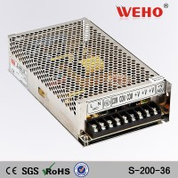 Factory direct sales 200w single output power supply 36v 5a led smp