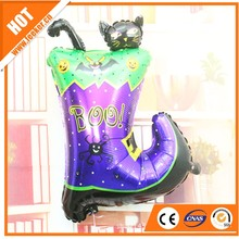 Black Boot with Cat Halloween Product Helium Foil Inflatable balloons For Hallowmas Party
