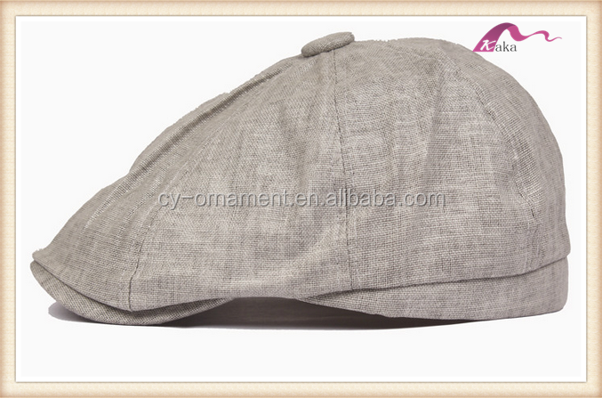 Cotton linen men lady beret chun stitching sunshade summer cap hats