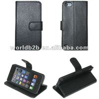 Cute Booke Style Stand Leather hard or TPU case for iPod Touch 5