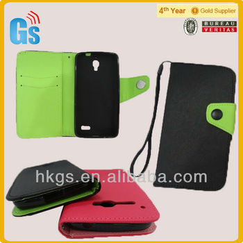 For Alcatel one touch X POP OT-5035 leather case mix-color