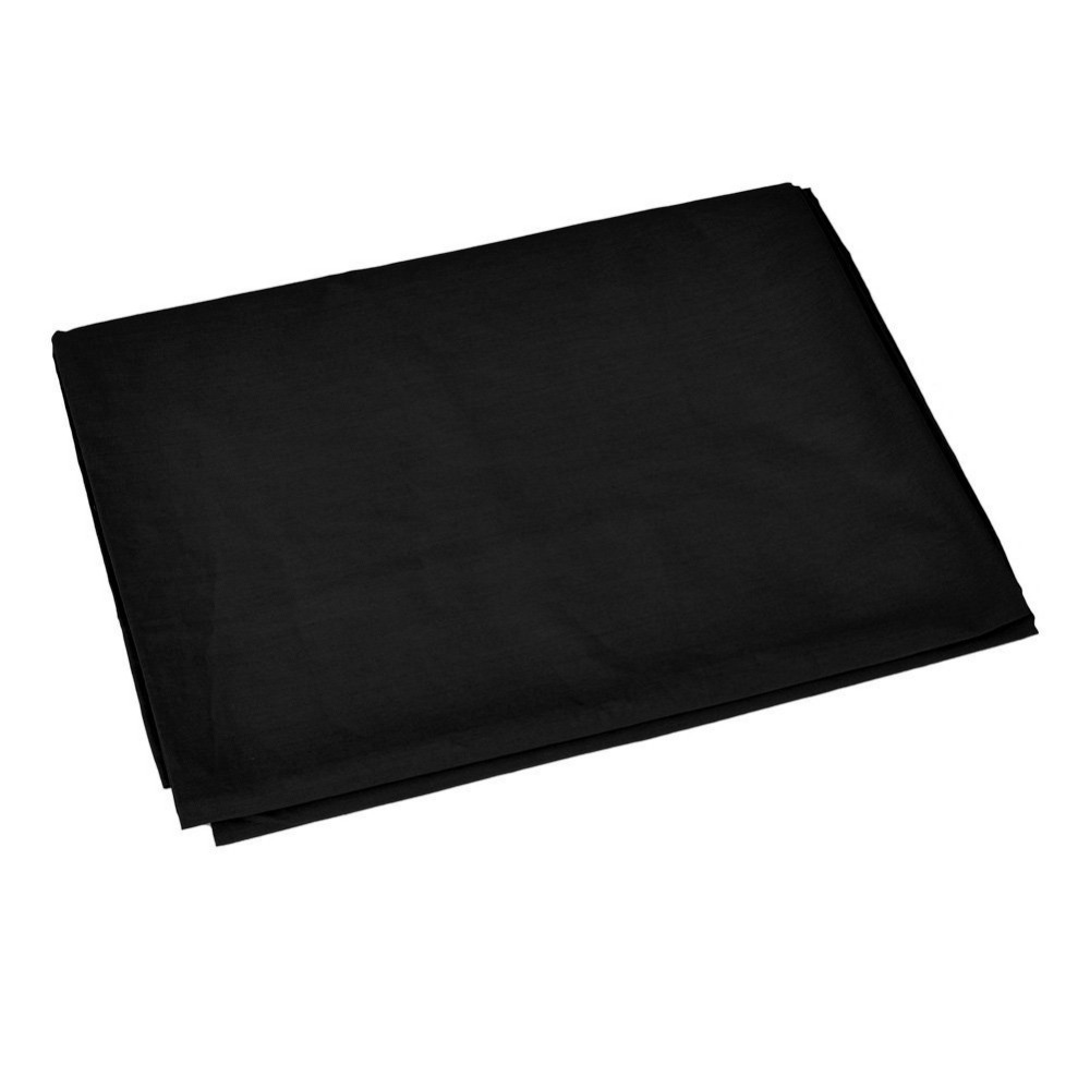 3x3.6M Professional Photo Studio 100% Pure Cotton Black Muslin Collapsible Background Screen Muslin Backdrops
