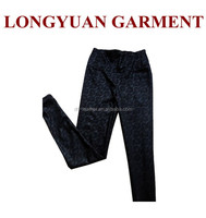 2016 latest lace designs PU leather trousers
