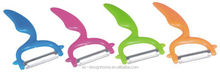 FUCHSIA, TURQUOISE, LIME GREEN, ORANGE PP PLASTIC FRUIT AND VEGETABLE PEELER