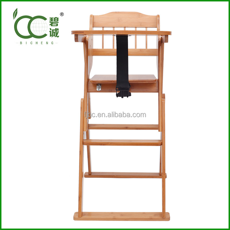 baby furniture/Wholesale Foldable Bamboo Baby Feeding High Chairs for Restaurant