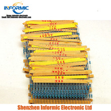 1/4W 0.25w metal film resistance pack 1% accuracy 122 types resistance each 20pcs total 2440pcs