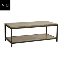 French baroque style metal frame coffee Table ,living room furniture Side Table,Wood Top Coffee Table