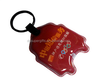 Wholesale mass plastic led keyrings keychains,cutomized design logo key rings chains