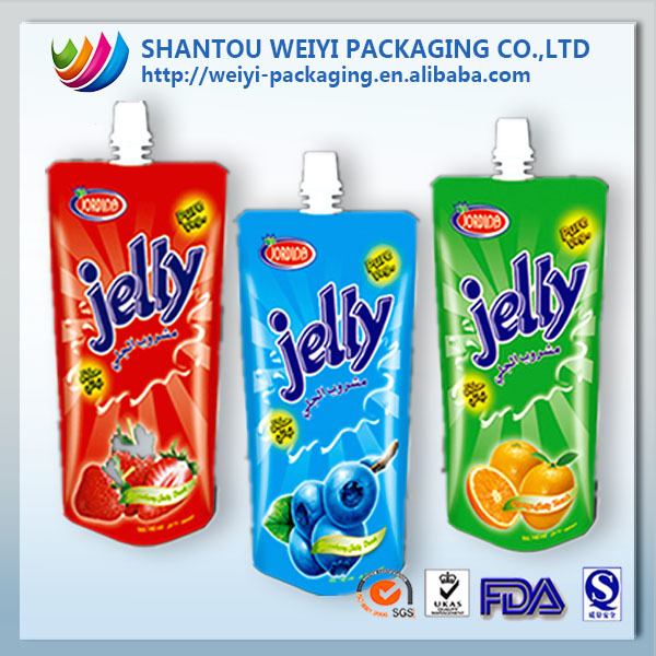 standing side gusset frozen fruit jelly drink packaging