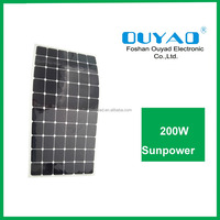 semi flexible sunpower solar panel 200w flexible thin film solar panel china