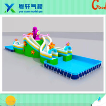 2017 Factory price Inflatable Bouncy Castle With Water Slide/water park slides with pool for sale