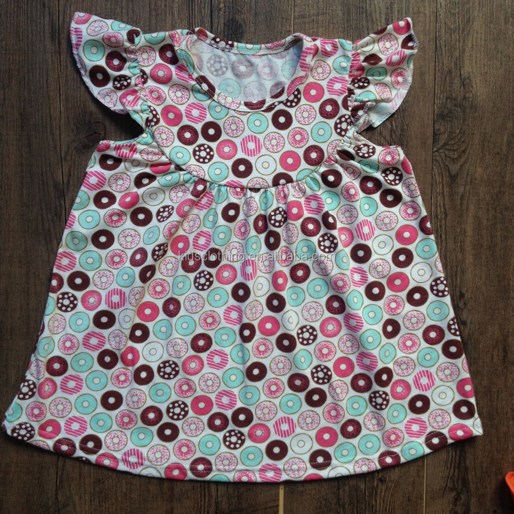 2017 girls donut print outfit brand name remake kids boutique clothing wholesale children clothing