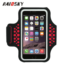 HAISSKY reflective cell phone sport armband case phone armband for iphone 6s /6 plus