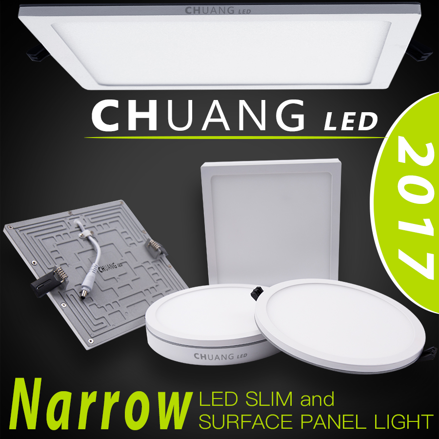 2017 new led panel light slim and surface
