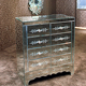 Glass Night Stands Venetian Mirrored Furniture Side Tables for Bedroom