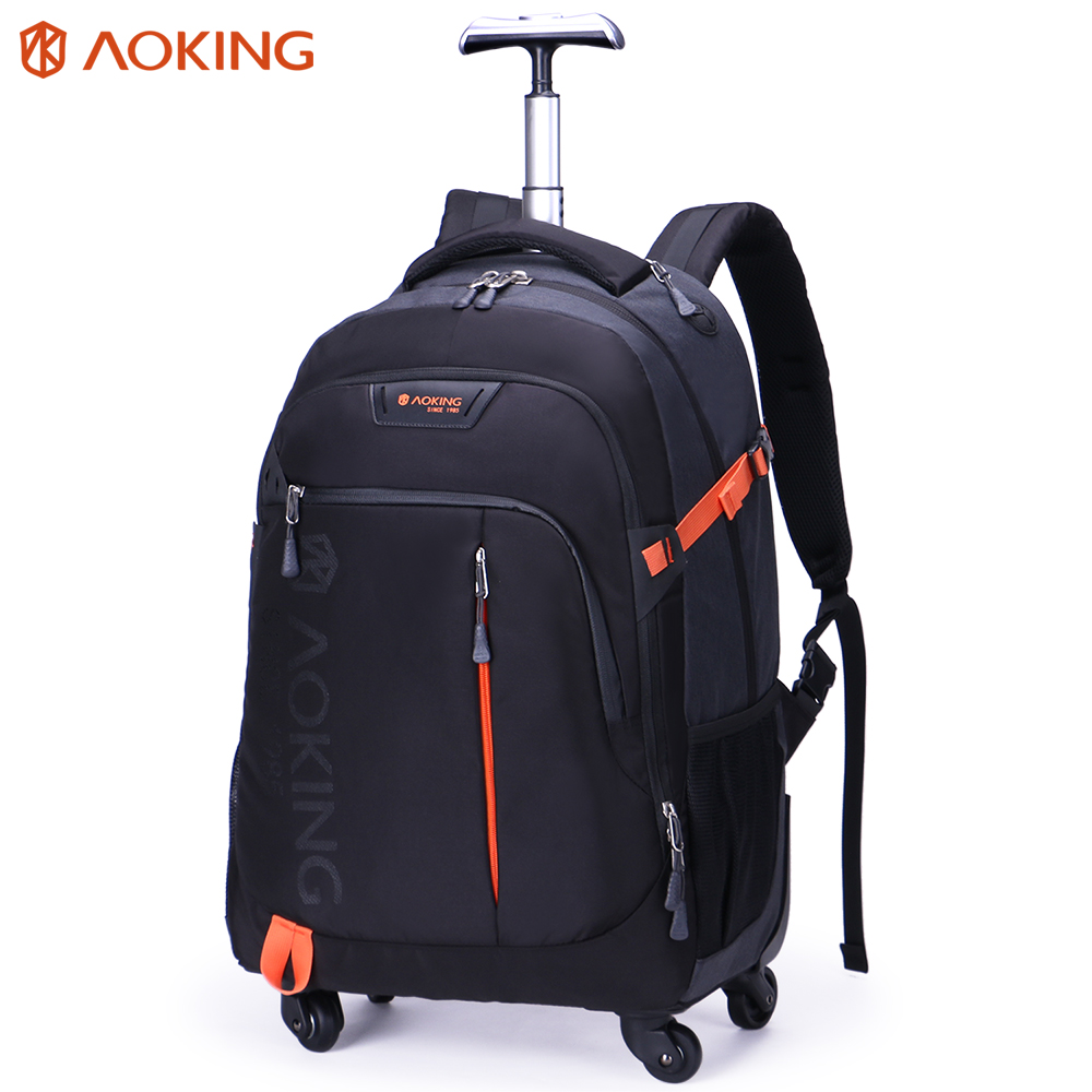 Multi-use executive aoking travel laptop trolley bag rolling wheeled trolley backpack