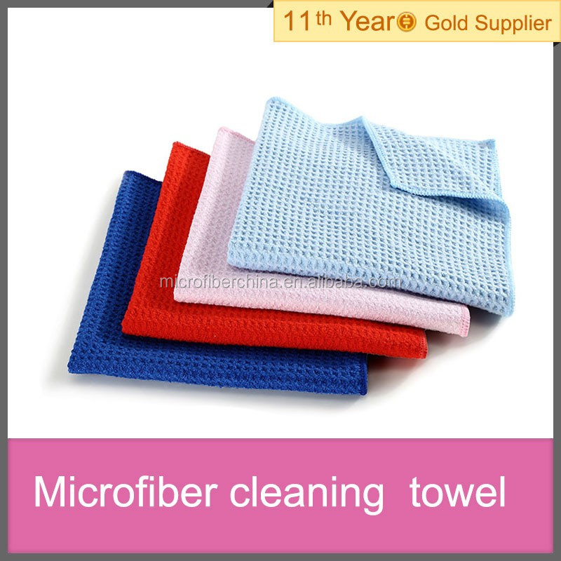 microfiber waffle cleaning cloth for car home dust wiping