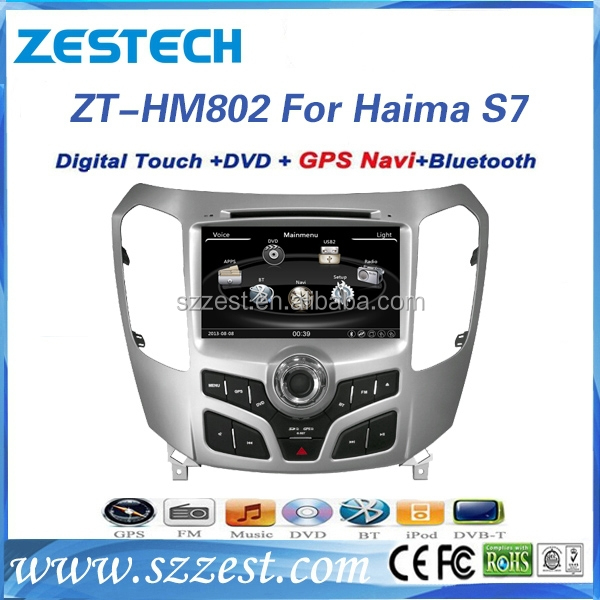 ZESTECH central multimedia China digital TV antenna 3G, car dvd gps for Haima S7/