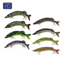 Wholesale 12.7cm/19.5g multi jointed pike fishing lures
