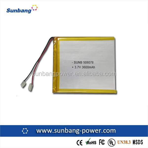 lithium polymer rechargeable li ion poly battery 3.7v 3600mah solar energy storage battery
