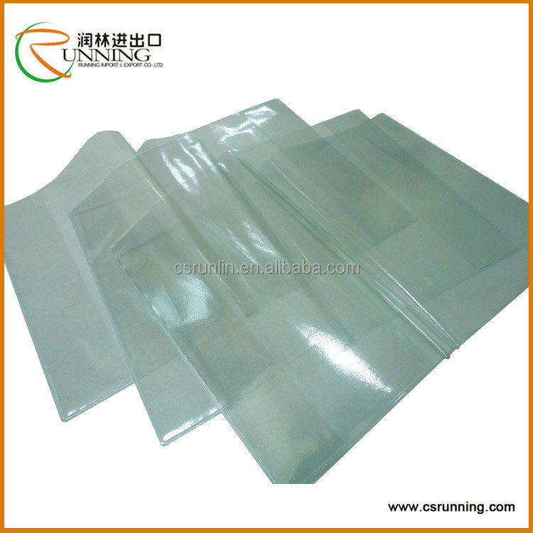 hot sell durable and comfortable feel clear plastic book cover
