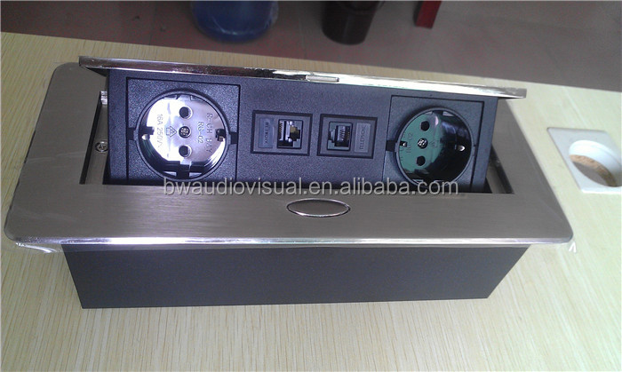 EU Conference Table Pop Up Electric Switch Box/Table Power Socket Outlet