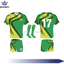 Wholesale digital sublimation tranfer printing technics rugby jersey quick dri material rugby jersey