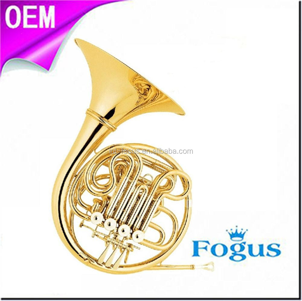 F/ Bb Key One-piece/ Separated Bell Brass Body 4- Key Double French Horn
