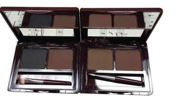 MN Menow Long Lasting 2 Colors Eyebrow Makeup kit, Make Up Set Eyebrow Powder With Brush