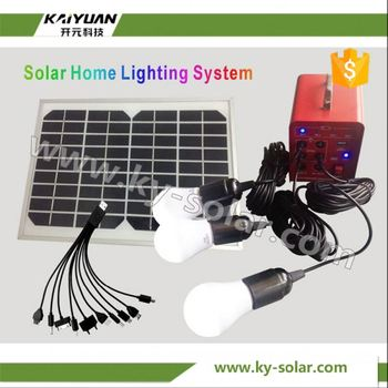 2016 New design solar light 10w solar power system with solar panel