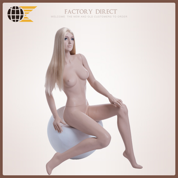 cheap sitting realistic female mannequin ROS-04 for sale