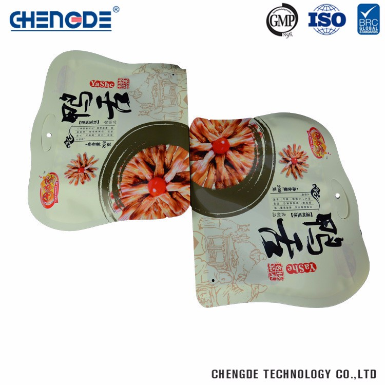 Glossy Plastic Durable Food Packaging Plastic Bag