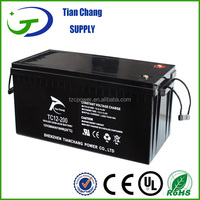 12V 200Ah Rechargeable lead acid maintenance free solar battery