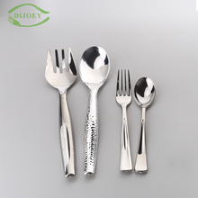 High quality serving silver plated wholesale cheap disoposable plastic spoon and fork set