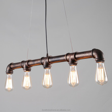 Nordic Industrial loft iron pipe Pendant light Edison Vintage Bulbs E27 5 Arms Lights for Home/Bar/Cafe Decorative Lighting