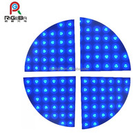 60*60cm portable rgb color Cheap led dance floor in promotion