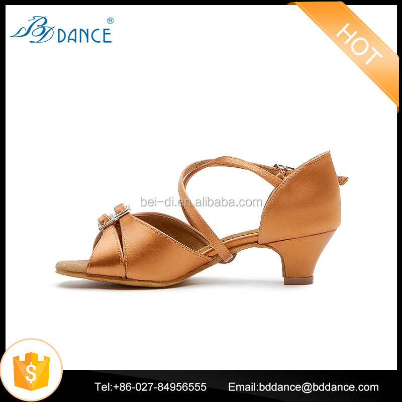 Children Latin Dance Shoes Low Heel Ballroom Dancing Shoes For Kids 609