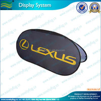 Customized advertising display oval pop up banner
