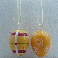 painted plastic artificial easter egg