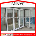 Big interior PVC frame glass sliding doors