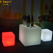outdoor swimming pool Waterproof IP68 LED Furniture Cube 40*40*40cm Wedding Event Party LED Cube Chair